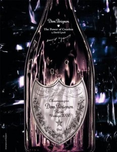 Dom Perignon Rose Gold Bottle