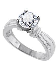 palladium diamond engagement rings